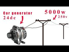 How to turn a car generator to Here's how . make automotive generators from into Basic Electrical Wiring, Electrical Projects, Electrical Installation, Electronics Projects, Electrical Diagram, Electrical Energy, Generator Shed, Alternative Energie, Alternative Power Sources