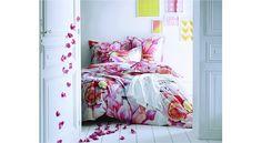 #Raffiné Nuits douces à souhait avec cette #composition #florale en #satin de #coton.
