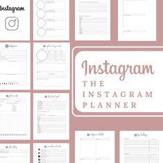 Instagram Planner Social Media Planner with Tracking   Etsy