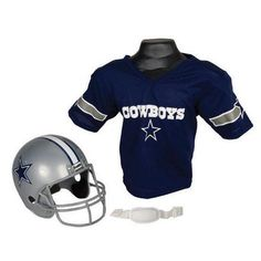 64b703c21 Dallas Cowboys Youth NFL Helmet and Jersey Set Cowboys Helmet