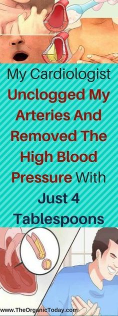 My Cardiologist Unclogged My Arteries And Removed The High Blood Pressure With Just 4 Tablespoons | Healthy Mom