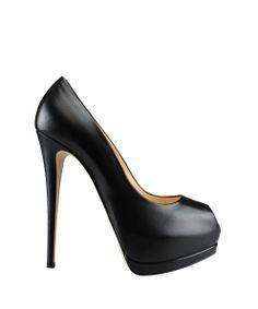 Giuseppe Zanotti Leather open-toe pump   Lindelepalais.com 14553