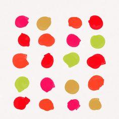Strawberry Kiwi Art Print, colorful kids room decor, nursery decor, bold modern art, minimal, simple