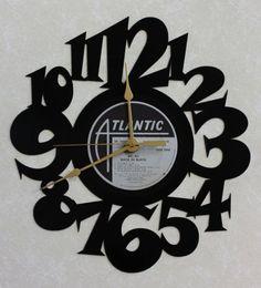 AC/DC ~ BACK IN BLACK ~ Wall Clock made from the Vinyl Record LP ~ Recycled LP Vinyl Record/Album Clock ~ Decorative - Functional Art ~ by VinylRecordClocks, http://www.amazon.com/dp/B009H8OZLQ/ref=cm_sw_r_pi_dp_4NxSrb0NH6E02
