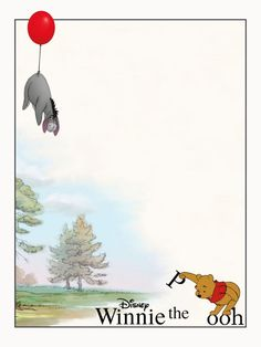 """Winnie the Pooh - Eeyore - balloon - Project Life Journal Card - Scrapbooking ~~~~~~~~~ Size: 3x4"""" @ 300 dpi. This card is **Personal use only - NOT for sale/resale** Logo/picture/clipart belong to Disney. ***"""