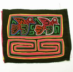 Vintage Mola Textile 31 Flying Birds Native Kuna Indian by rayela