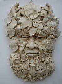 Large Hand Made Sculpture: Herne the Hunter  Green Man  Herne-the-hunter-green-man-wall-plaque  £55.00
