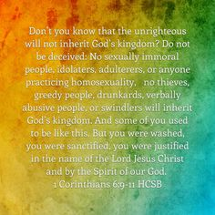 1 Corinthians 6:9-11