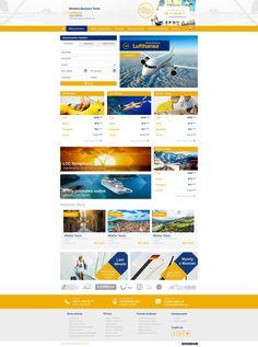 Almabus Business Travel   Menu strona www, website, template, biuro podróży, travel agency Business Travel, Branding, Website, Brand Management, Identity Branding
