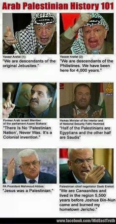 """girlactionfigure: """" The Israel Network Arab palestinian history 101….. They really like to contradict themselves! """""""