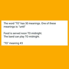 """One of the 30 meanings of the word """"TO""""  #NewAndUsedConceptSalesperson #EveryonesLiteracyMatters #ELM #To"""