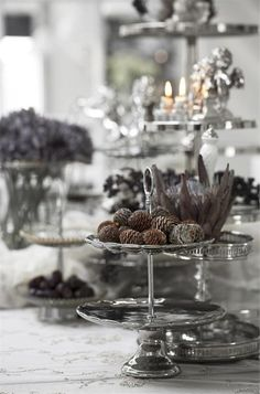Silver and Grey Christmas Decor