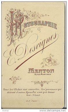 DESVIGNES E. - Menton