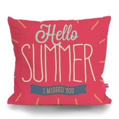 Cushion Cover HELLO SUMMER by Sticky!!!