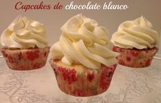 Sivila Happy Bakery : ♥ Cupcakes de chocolate blanco!!