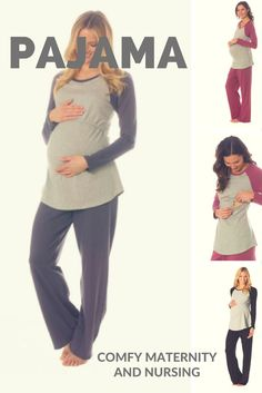 Cute and comfy maternity and nursing pajamas and lounge outfit. MAJAMAS PASTIME MATERNITY NURSING LOUNGE PAJAMA SET http://www.duematernity.com/majamas-pastime-maternity-nursing-lounge-pajama-set.html