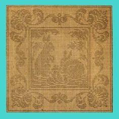 1909 Bunnies Filet Crochet $2.99