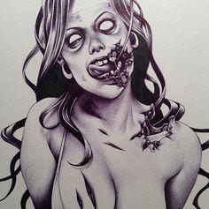 Artist Shohei Otomo  Shohei's Zombie @ Instagram