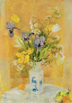 Le Pho French/Vietnamese, 1907-2001 Les Tulipes et les Iris
