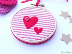 Valentines Heart Embroidery in Hoop Frame £7.00