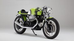 Green Dream Maschine - A Moto Guzzi V7 Cafe Racer built by Germany's KaffeeMaschine. For more about this bike visit returnofthecaferacers.com