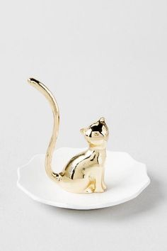 Gold Cat Ring Holder $12.00