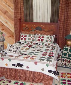 Bears Paw Hand Appliqued Quilt