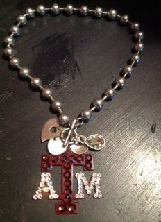 Texas A Multi Charm 18 Toggle Necklace by sassygirlsx3 on Etsy, $34.95