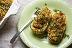 Curry-Stuffed Delicata Squash