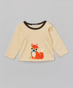Look at this #zulilyfind! Ecru Dapper Fox Tee - Infant & Toddler #zulilyfinds