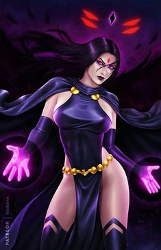 Raven is a key member of Teen Titans and occasionally uses the alias Rachel Roth. Comics Anime, Comic Manga, Marvel Dc Comics, Manga Anime, Dc Comics Girls, Comic Book Characters, Comic Character, Teen Titans, Fantasy