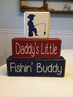 Daddy's little fishing buddy primitive rustic by AppleJackDesign, $26.95