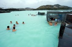 Blue Lagoon, Iceland: The water averages 98 to 102 degrees and is said to have curative benefits.