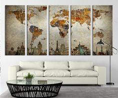 Canvas Art Print Wonders of the World on by ExtraLargeWallArt