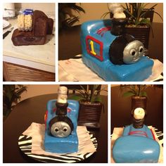 This is my first time ever doing a 3D cake & I have to say that I'm proud of my self. My sons birthday is 11/14 and he loves thomas the train... I'll try my best for he's birthday cake!! ( this was a practice cake) :)