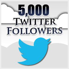 PROMOTIONAL SALES! 5000 Twitter Followers for $15 only. No passwords are required. We deliver in 24 hours. We provide real human active Twitter Followers only on:- 500RealFollowers.com