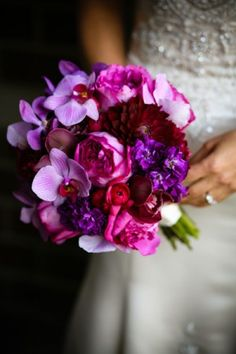 weddings with purple orchids