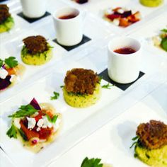 """""""You might love foie gras and cheese grits, but they're not necessarily great together. Picking a theme before you set the menu will help ensure the dishes you choose work together.""""  This article provided by the Knot has some cute ideas to spark up any wedding meal."""