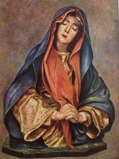 Imagen española de La Soledad .Obra de Pedro de Mena. Convento de las Salesas Reales. Madrid.