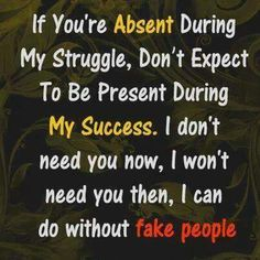 I can do without fake people