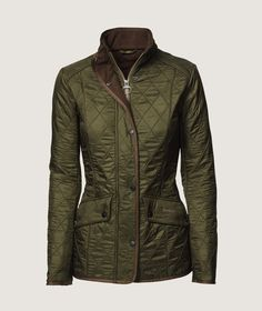 Troelstrup AW14. Green quilted jacket from Barbour.