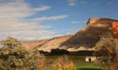 A view from the window of the California Zephyr near Grand Junction, Colorado