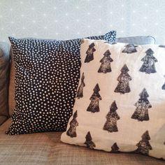 Nuori Koti - perunalla painetut kuusityynyt Koti, Throw Pillows, Bed, Toss Pillows, Stream Bed, Decorative Pillows, Decor Pillows, Beds, Scatter Cushions