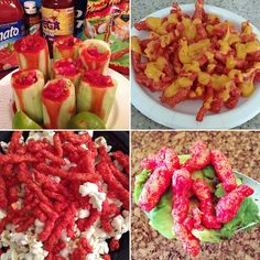 Different ways to eat hot Cheetos con chamoy