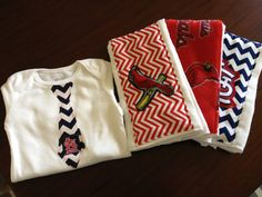 Cardinals mizzou modern burp cloths sets with by HBehrmannDesigns