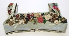 MET Museum Deaccession Early 19th Century Satin Bodice with Fabric Flowers | Clothing, Shoes & Accessories, Vintage, Women's Vintage Clothing | eBay!