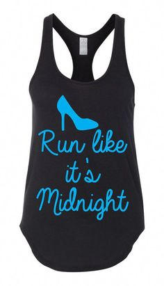 dc7b6a2b2f6cf3 Run Like It s Midnight Workout Tank Top Workout Tshirt Ladies Shirt