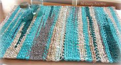 make rag rugs from scraps on a handmade loom-easy