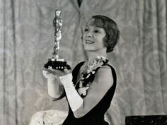 """Helen Hayes 1931/1932 for her role as Madelon Claudet in The Sin of Madelon Claudet (1931).  """"Advice to young actors winning Oscars: Enjoy! Don't wait years to find out what that award can give you in comfort and confidence. As an actor grows older, no matter how long his memory, it is hard to hold on to that delicious feeling of his memory - of being best. That Oscar sitting on the mantel is a good reminder. I treasure mine for just that."""""""