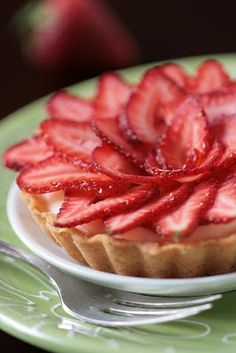 Tartelette: Maple Cardamon Mousse And Strawberry Tartelettes